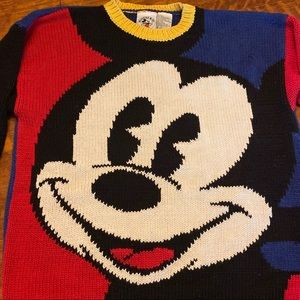 90s Vintage Knitted Mickey Mouse Sweater